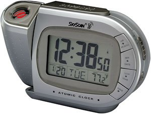 Skyscan Atomic Projection Alarm Clock With Temperature At